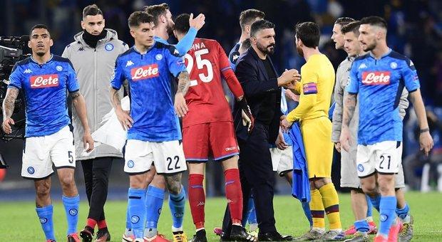 Gattuso saluta Messi a fine gara