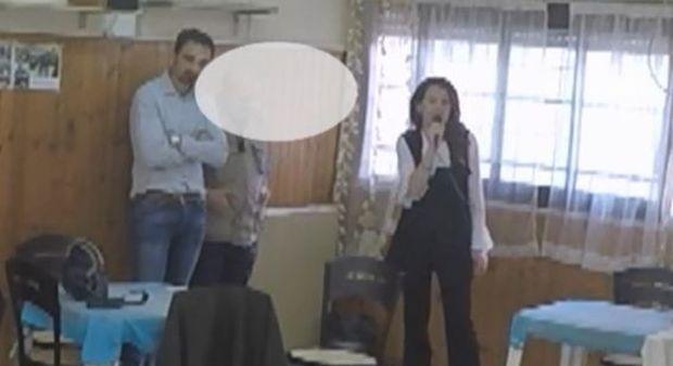 Roberta Capoccioni con il consigliere Roberto Monaldi