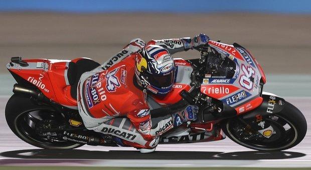 Andrea Dovizioso, vittorioso in Qatar con la sua Ducati