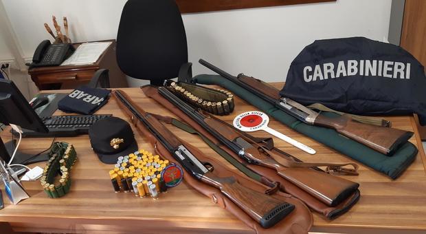 Armi e munizioni sequestrati dai carabinieri forestali