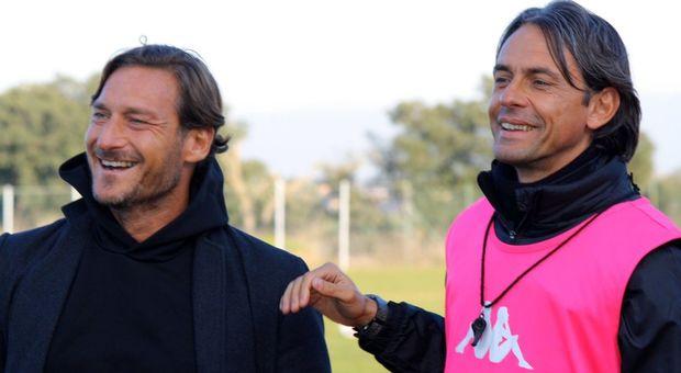 Francesco Totti e Pippo Inzaghi