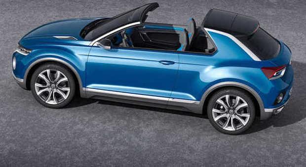 Il Volkswagen T-Roc, il concept di Suv compatto esposto al salone svizzero