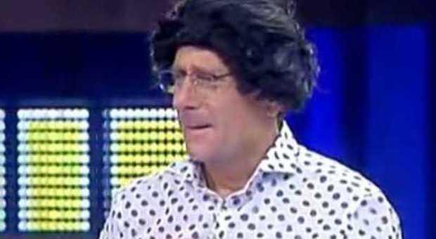 """Il """"Filippino"""" di Bonolis in un frame della trasmissione tv"""