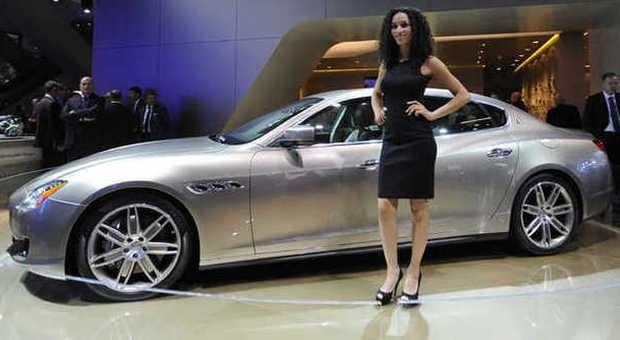 La Maserati Quattroporte Zegna sullo stand del salone dell'auto di Francoforte