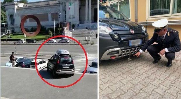 Roma, con l'auto giù per la scalinata di Villa Borghese: al volante un manager del Nord