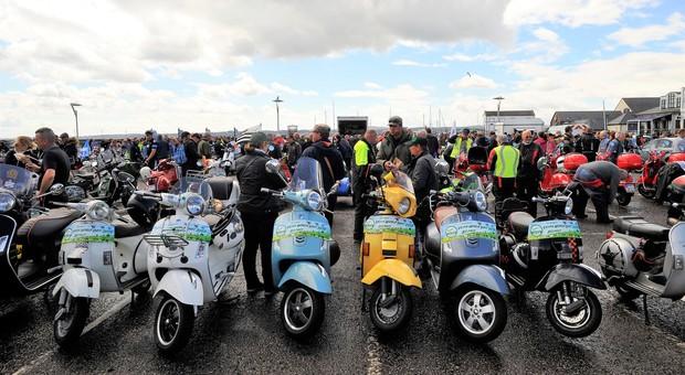 Alcuni dei partecipanti al raduno di Belfast