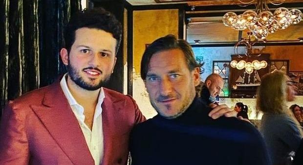 Andrea Reitano del ristorante Santo Mare a Londra e Francesco Totti