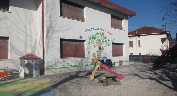 La scuola materna di Cergnai di Santa Giustina presa di mira da Erostrato