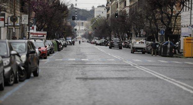 Roma, nussuno per strada per il coronovirus