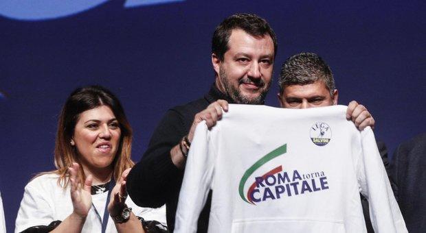 Salvini a Roma vede Lotito e attacca la Raggi per la metro Barberini: «Va processata per sequestro di passeggeri»