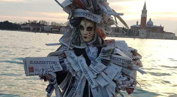 La maschera di Daniela, un omaggio al Gazzettino