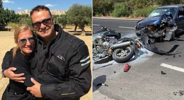 Incidente tra auto e due moto, morti un carabiniere e la moglie. Grave anche un comandante dei vigili