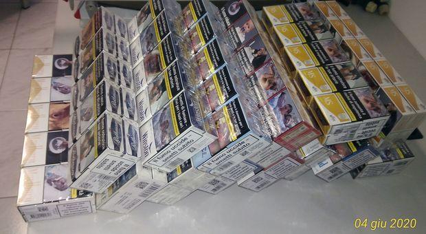 Le sigarette sequestrate