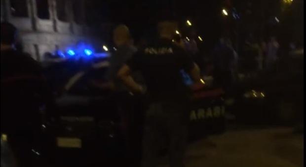 I carabinieri intervenuti nella Gay Street