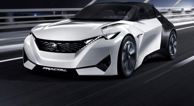 Fractal, il concet della Peugeot esposto a Francoforte