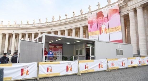 presidio sanitario mobile allestito a San Pietro