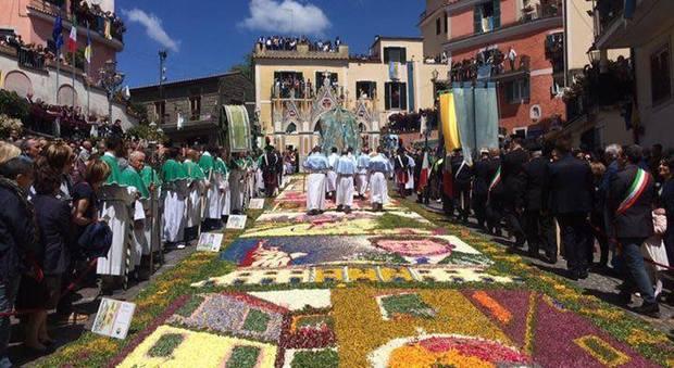 A Gerano va in scena l'Infiorata più antica d'Italia