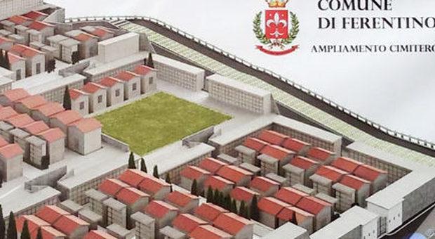 Il progetto dell' ampliamento del cimitero del comune di Ferentino da cui sono scaturiti gli arresti odierni