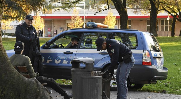 Controlli della Polizia a Campo Marzo