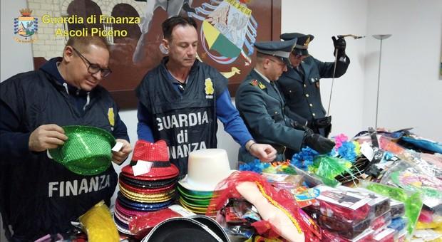 Ascoli, sequestrati quasi 60mila articoli di Carnevale pericolosi