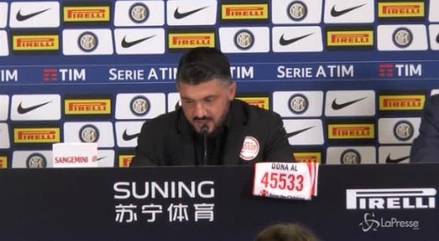 Milan, Gattuso assolve Donnarumma: «Non è mai colpa di uno solo»
