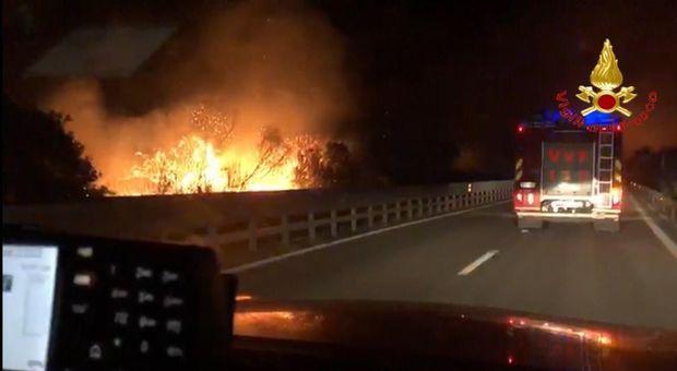 Spaventoso incendio in Sardegna, chiusa la statale per Nuoro: fiamme fuori controllo