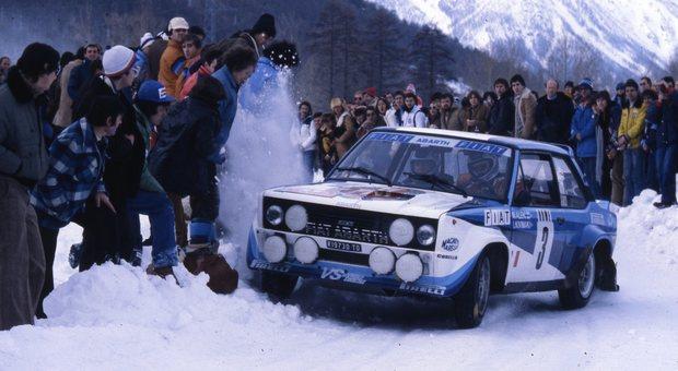 La Fiat 131 Abarth di Marku Alen al Monte del 1980
