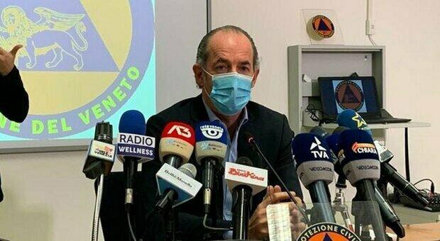 Zaia: «Veneto a rischio zona arancione. Crescono contagi (+1.272), morti (17) e terapie intensive»