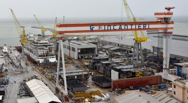 Un cantiere navale alla Fincantieri di Monfalcone