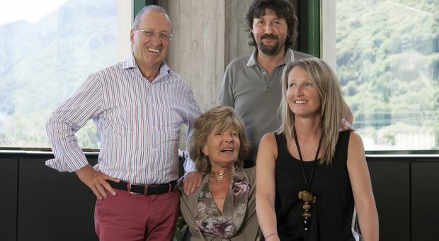 Da sin Ennio, la moglie Emiliana e i fgli Massimiliano e Barbara De Rigo