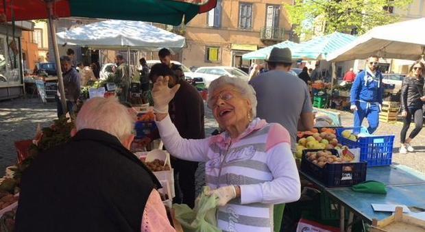 La nonna di Alberto Mezzetti, la Pasqualina, a Viterbo