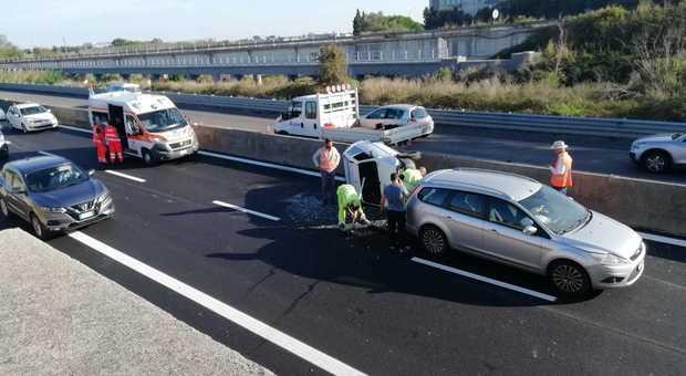 Tamponamento in superstrada a Brindisi