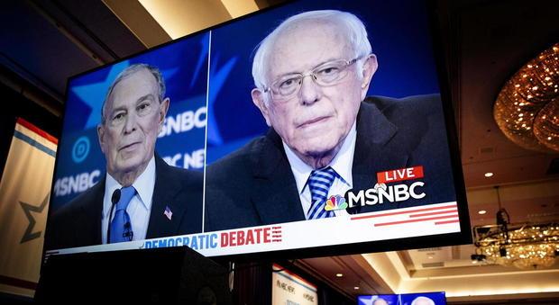 Bloomberg e Sanders al dibattito d las vegas