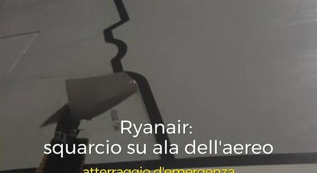 Ryanair, si squarcia l'ala del Boeing diretto a Bari. «Atterraggio da film a Francoforte»