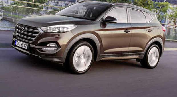 La nuova Hyundai Tucson durante la prova in Germania