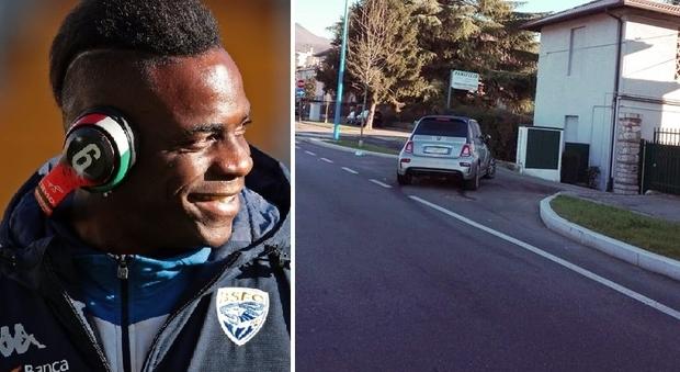Balotelli, incidente a Capodanno: auto distrutta dopo una manovra sbagliata alle 6 del mattino
