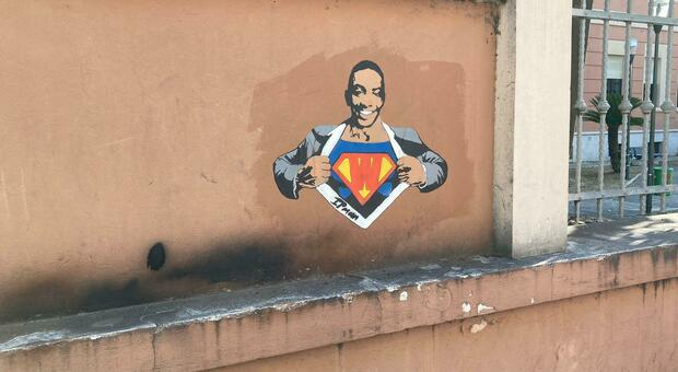 Dedicato al sorriso di Willy l'ultimo murale di Ipman in via Firenze