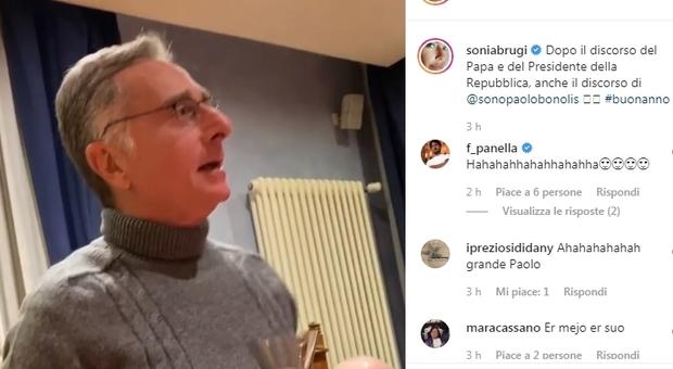 Sonia Bruganelli, su Instagram il discorso di fine anno di Bonolis: «Tutti a magnà a spese mie»