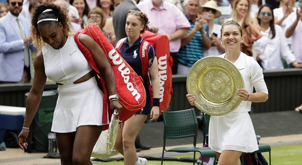 Serena Williams battuta in due rapidi set, la regina di Wimbledon è Simona Halep