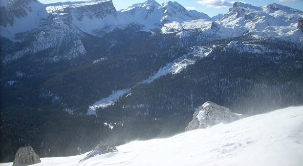 Il monte Nuvolau dove è avvenuta la tragedia