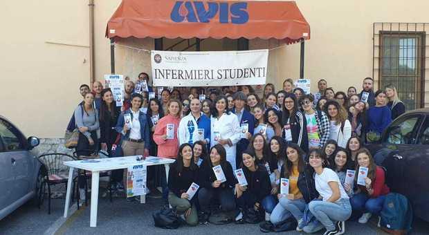 I partecipanti alla giornata di donazione Avis-Sapienza
