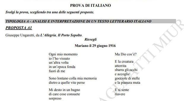 Poesia Di Natale Ungaretti.Ungaretti Traccia Maturita 2019 La Poesia Risvegli Da L Allegria Il Porto Sepolto