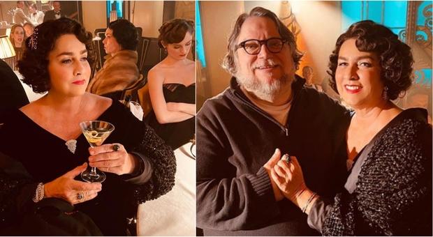 Romina Power irriconoscibile sul set del nuovo film di Guillermo Del Toro: look anni '20