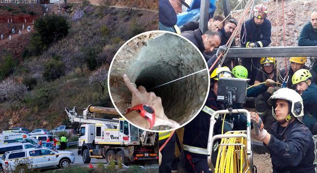 Fallito il primo tentativo di salvataggio del bambino nel pozzo in Spagna
