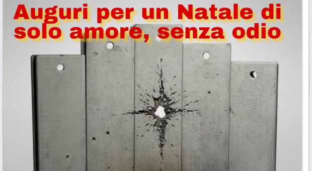 Il Pd Lazio per Natale sceglie Banksy e la sua opera contro muro di Gaza: ira di Fiano