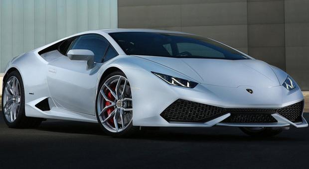 La Lamborghini Huracan esposta al salone di Ginevra