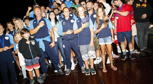L'Italia festeggia il successo (Foto Andrea Gilardi)