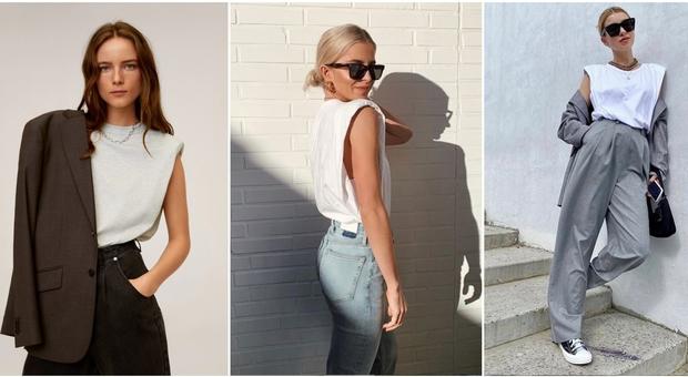 La T-shirt dell'estate 2020 è il modello bianco con spalline