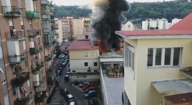 L'incendio del deposito della ditta Gerardi & Fortura