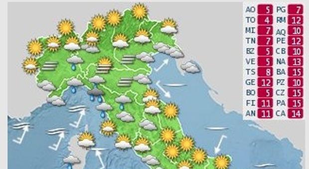 Meteo di Natale e Santo Stefano, progressivo peggioramento e pioggia in arrivo: ecco le previsioni (ilmeteo.it twitter)